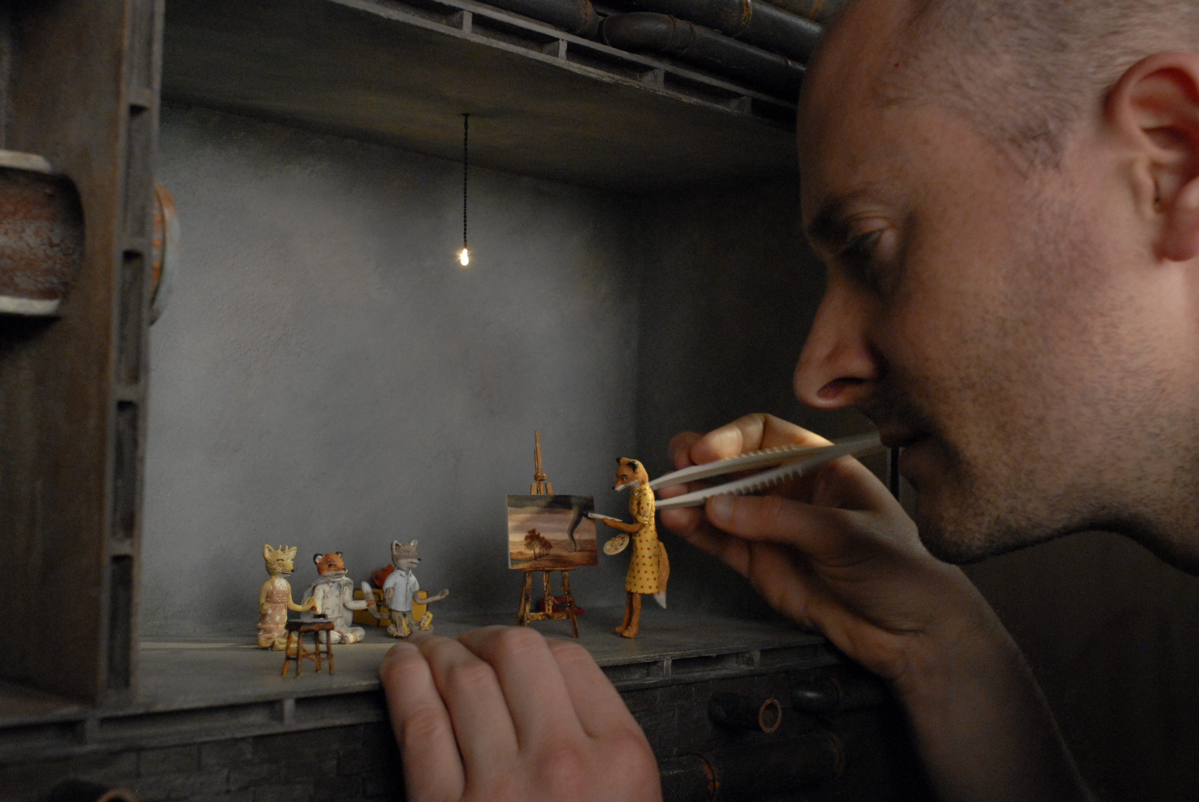 Fox miniture puppets